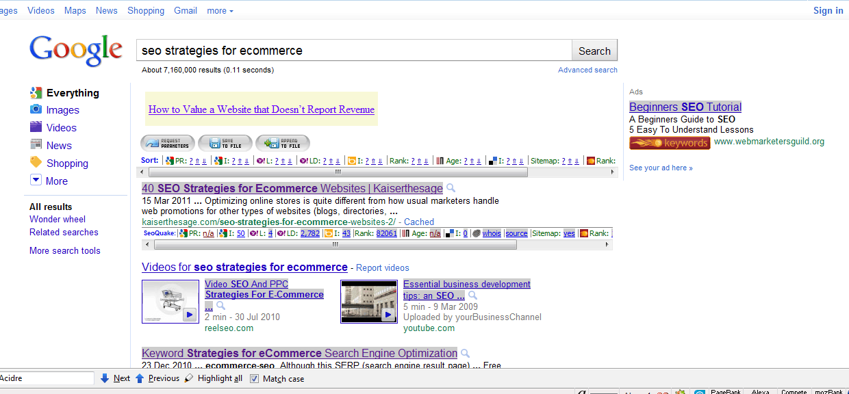 Google SERP SEO Strategies for Ecommerce