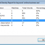Online Business SEO - Keyword Density