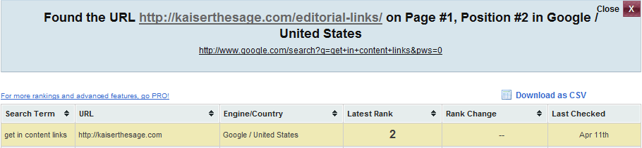 #2 Ranking