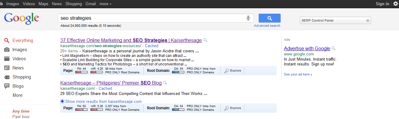 SEO strategies SERP