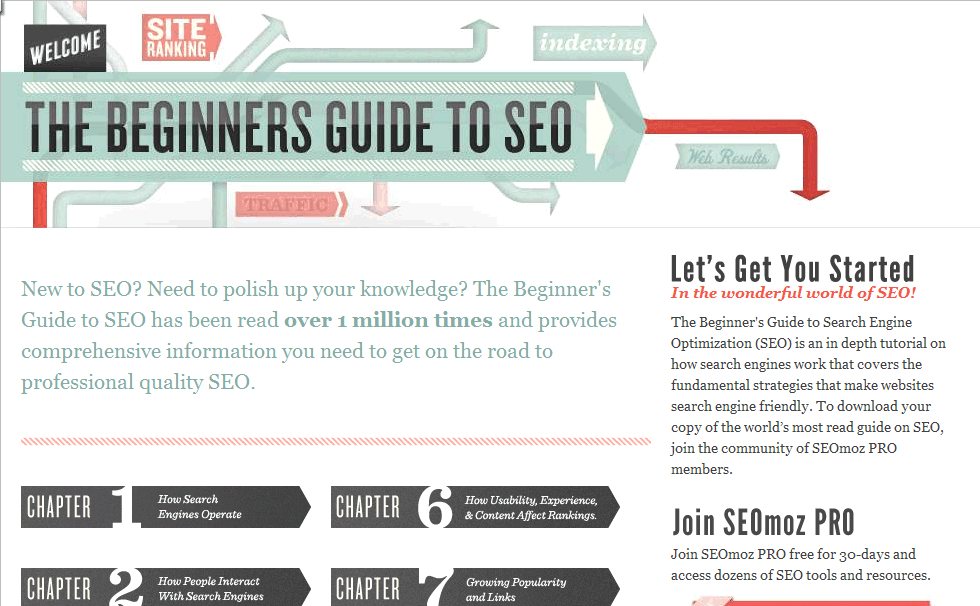 seomoz beginner guide to seo