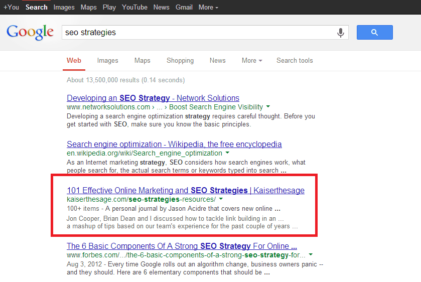 SERP seo strategies
