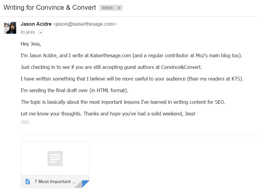 Subject Line That Summarizes What Your Email Is About