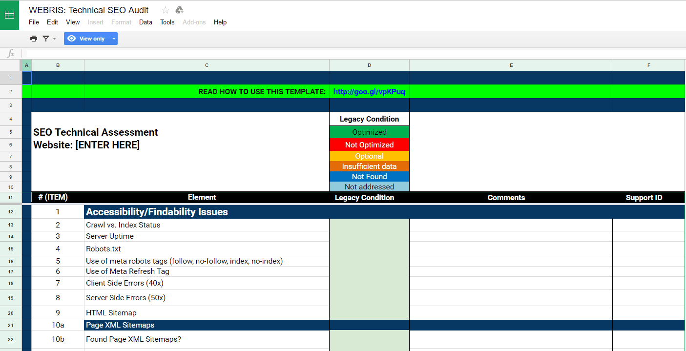 webris technical seo checklist